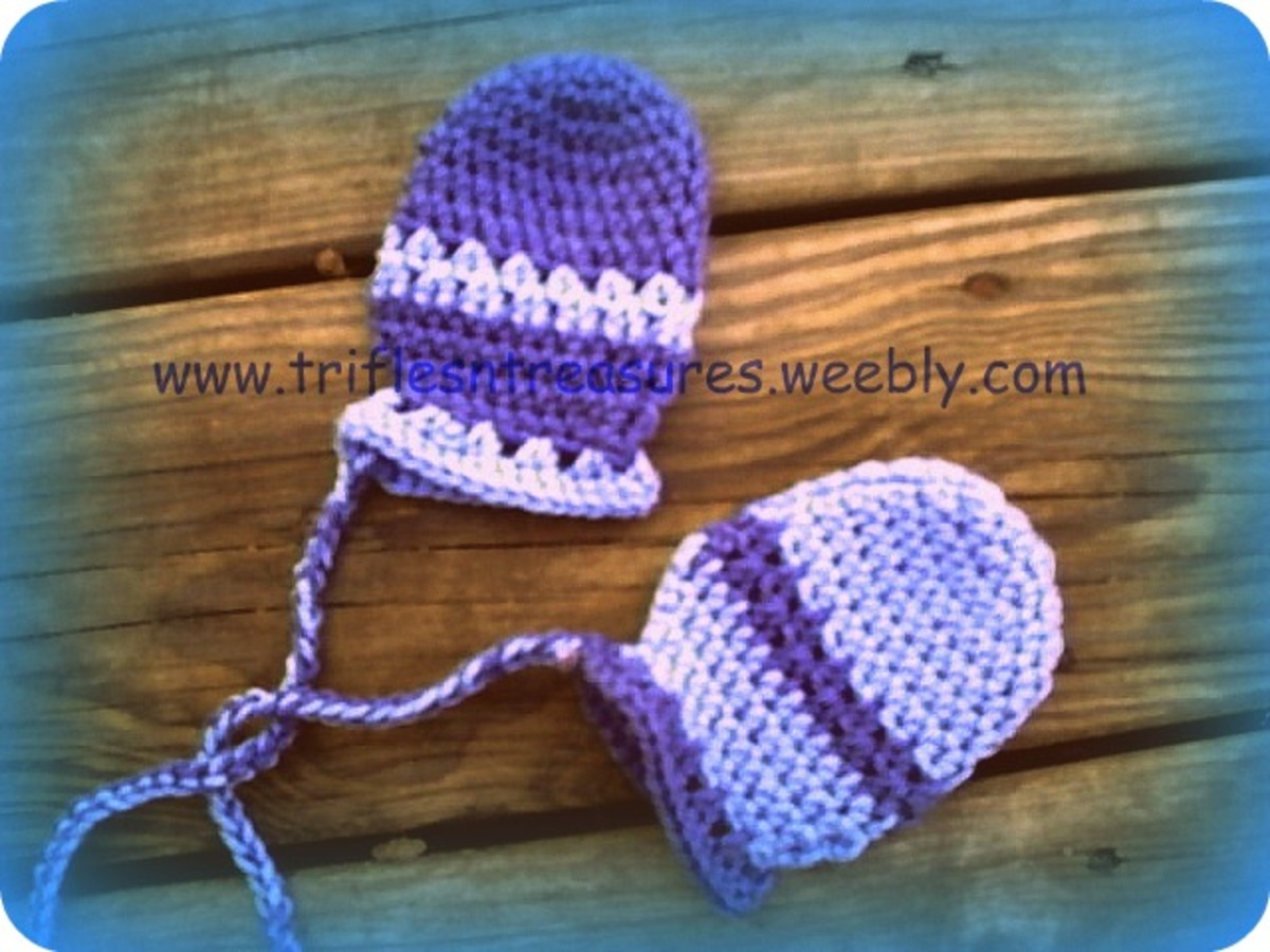 Crochet Thumbless Baby Mitts