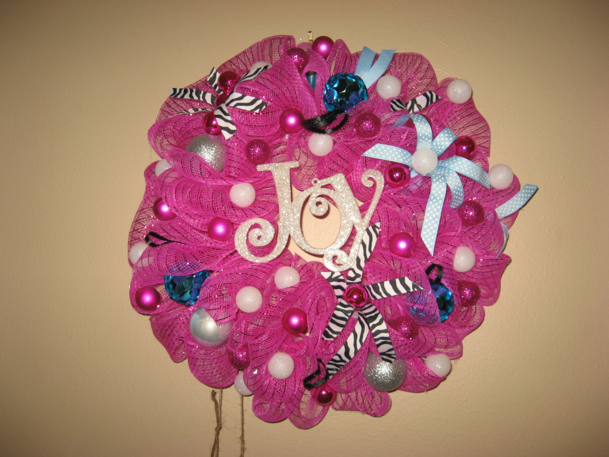 fun pink wreath