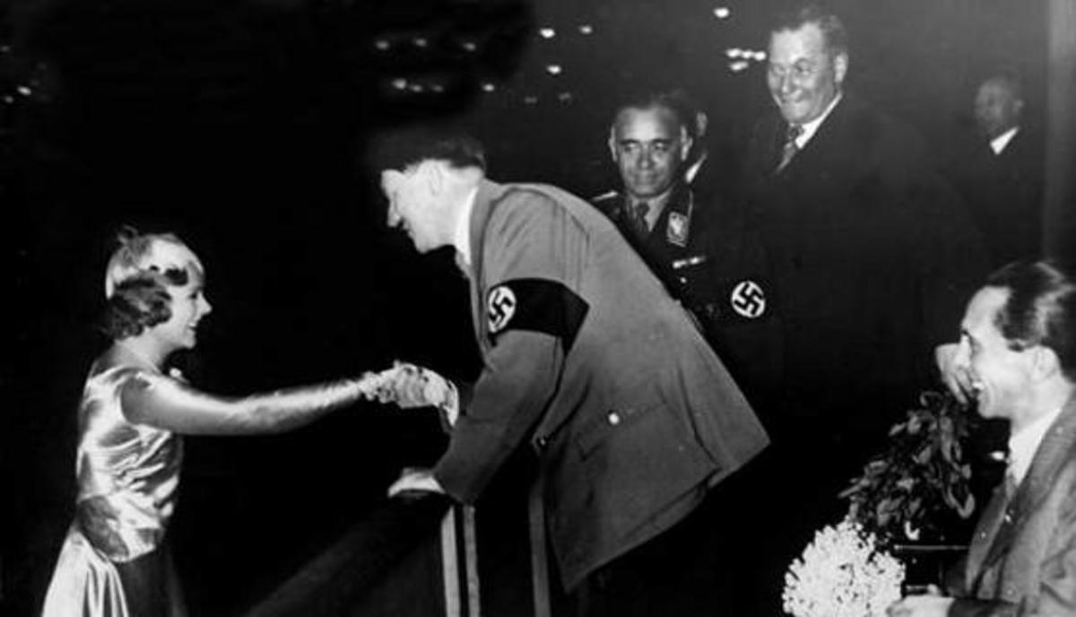 Sonja Henie Salutes Hitler at the 1936 Winter Olympics