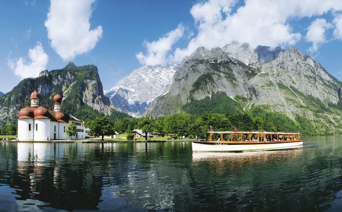 Boat ride on the Konigssee and Kloster St. Bartoloma.