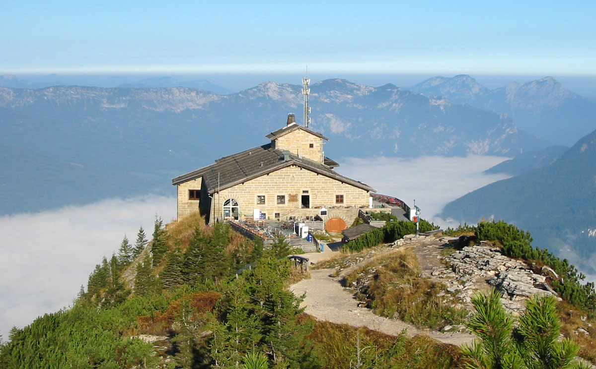 Kehlsteinhaus, (Eagle's Nest) at the summit of the Obersalzberg.