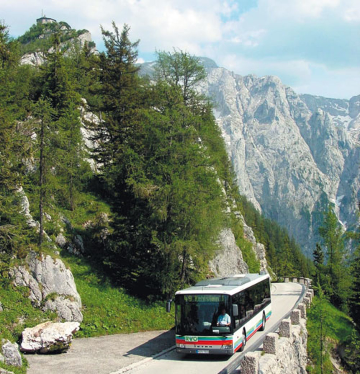 Kehlsteinstrasse where the bus takes tourists up to Eagle's Nest.