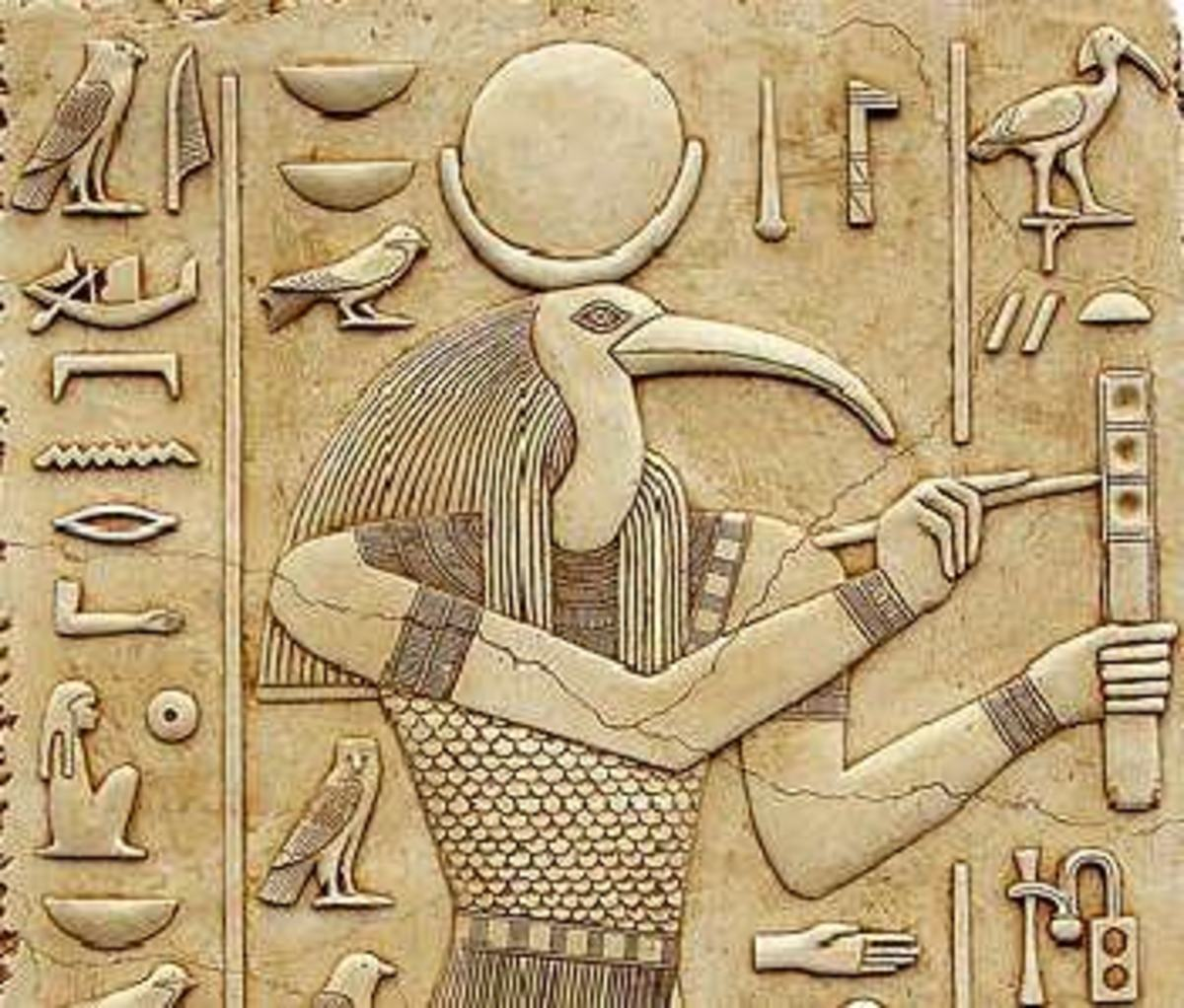 Thoth, known as the Egyptian god of Wisdom