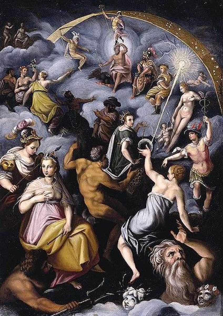 Jacopo Zucchi (1541–1590) - Assembly of the Gods PD-art-100