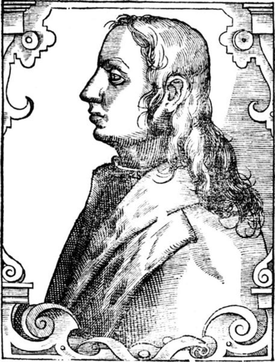 Ercole Strozzi, engraving after Paolo Giovio (1577)