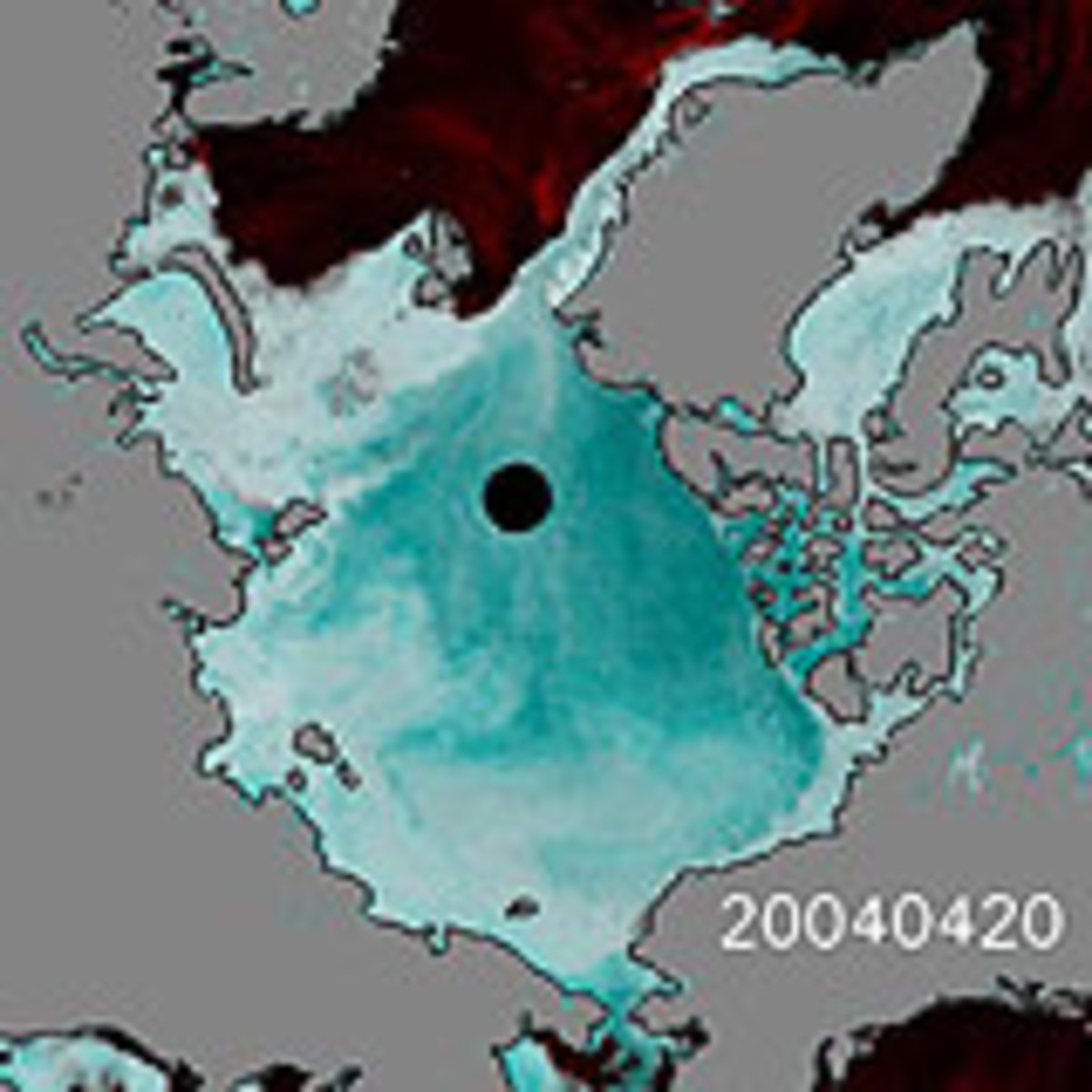 The black hole indicates where satellites are unable to retrieve data and fly over due to orbital restrictions or what is known as the No Fly Zone.