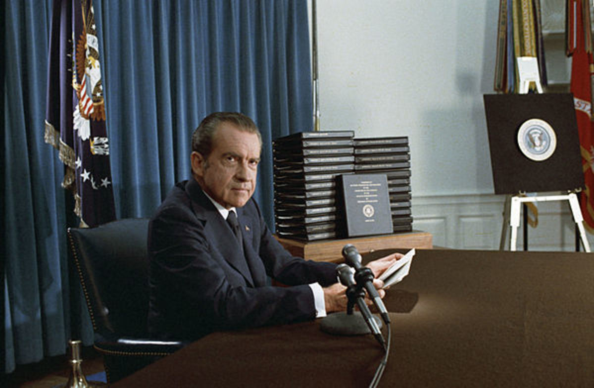 Nixon during Watergate investigation