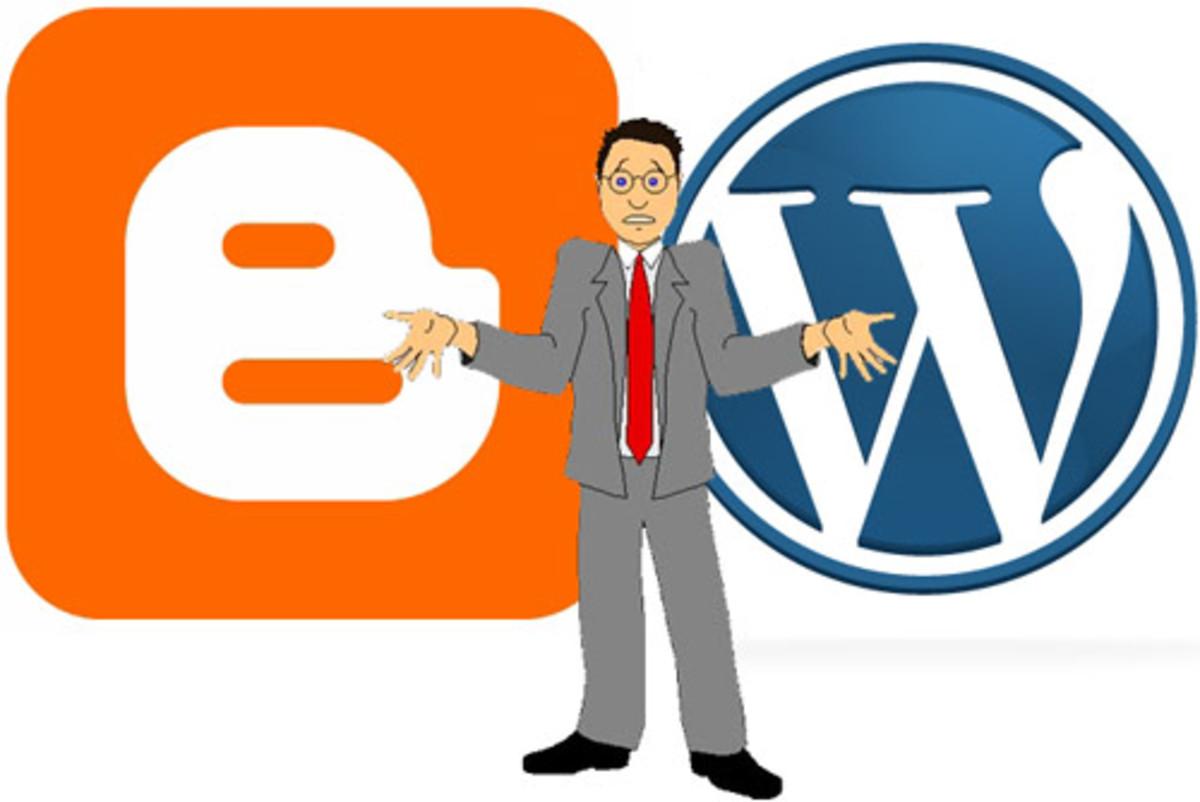 Blogger vs Wordpress photo/art