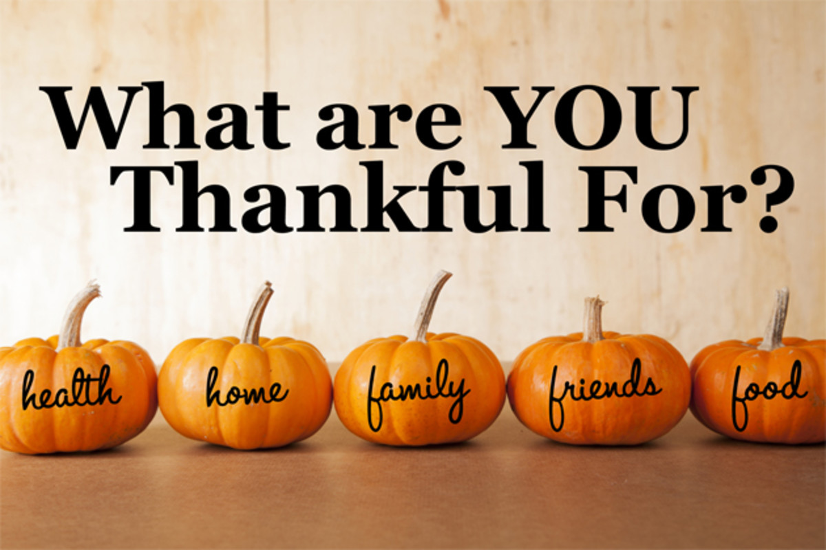 Why We Should be Thankful Everyday...Not Just on Thanksgiving