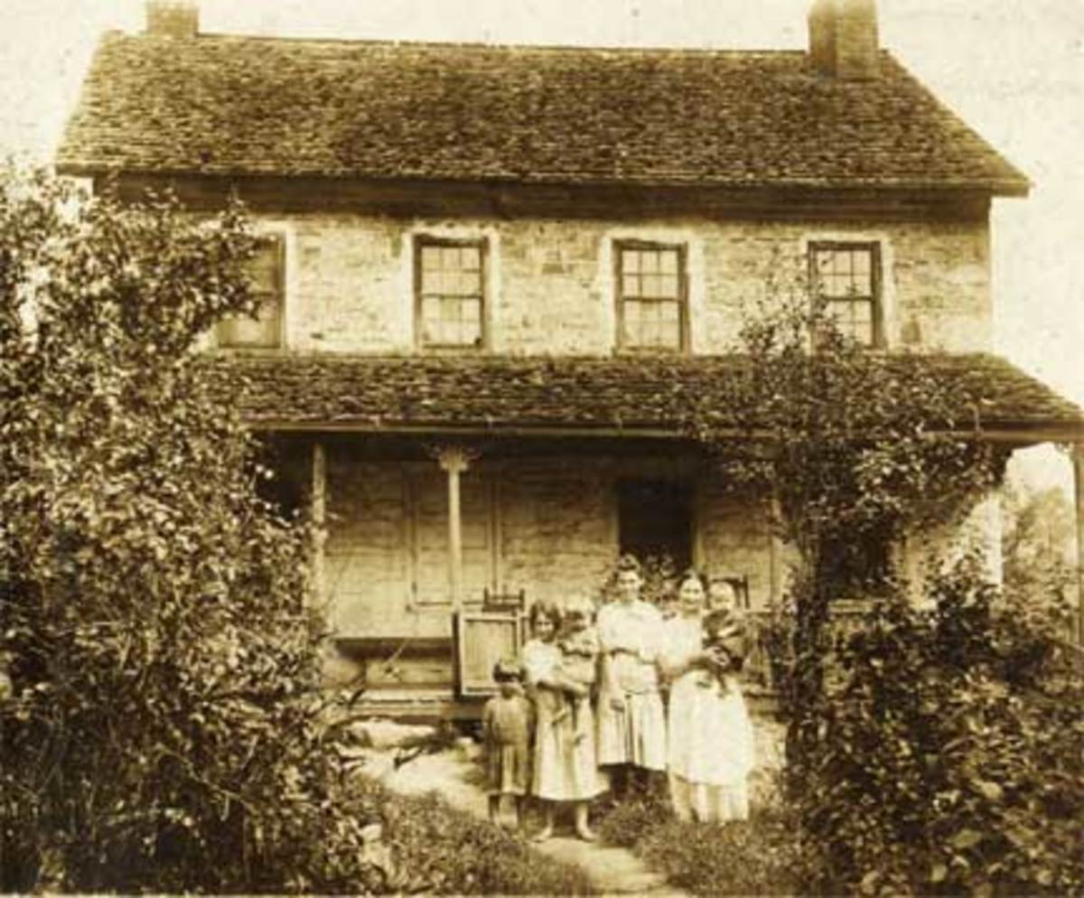 Old house .....old picture....complete with the residents of the time
