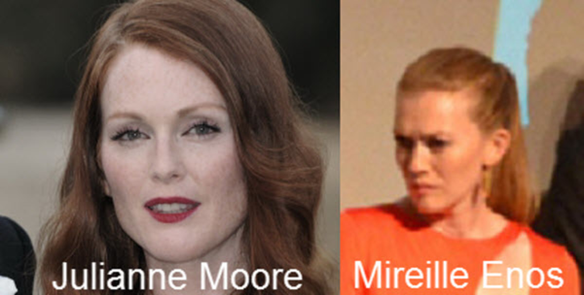 Julianne Moore and Mireille Enos