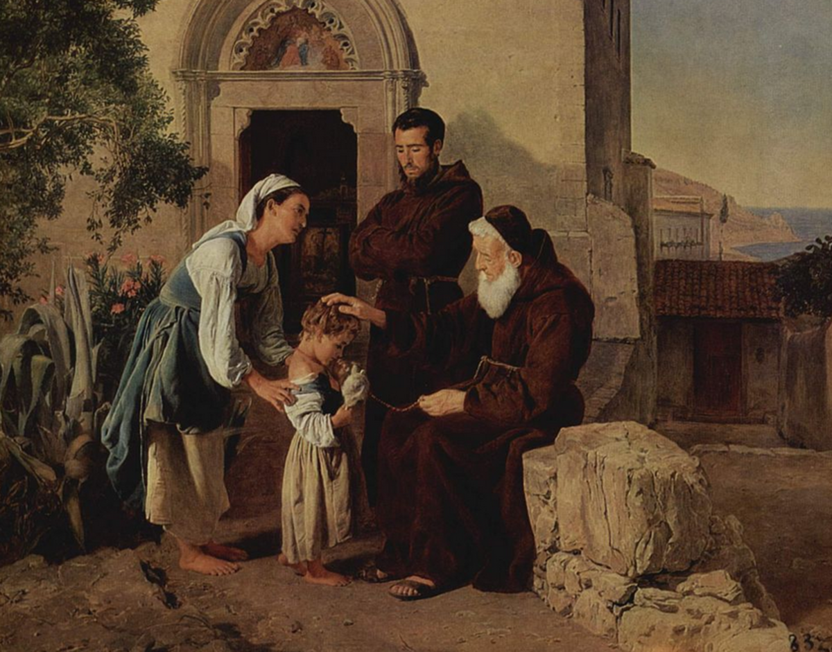 At the monastery gate (Austrian Orphan)