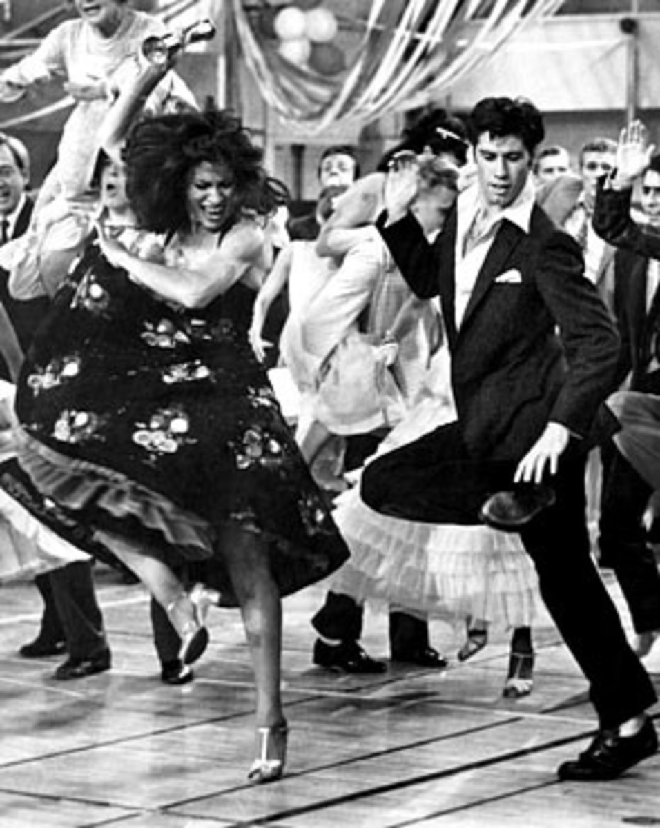 Annette Charles and John Travolta in Grease