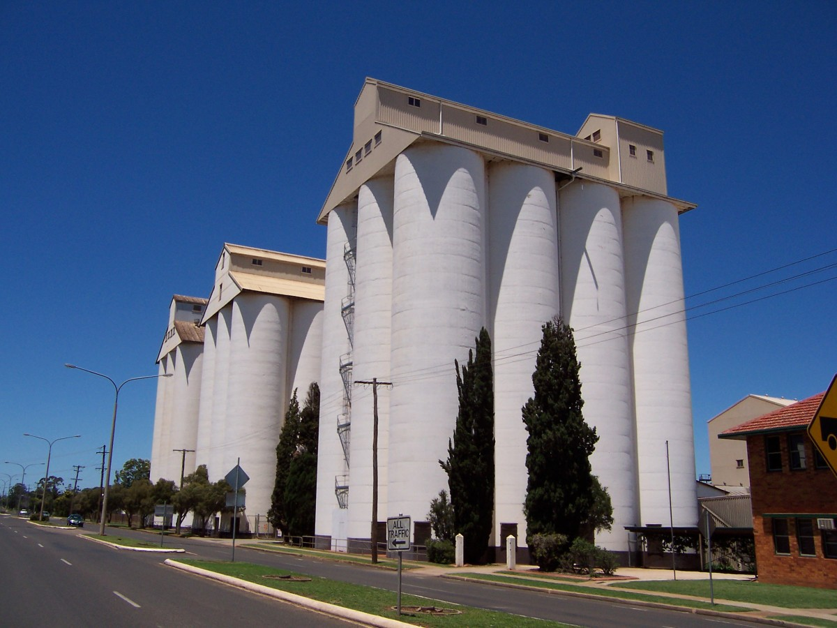 The Peanut SIlos (the town's tallest structure), Haly Street, Kingaroy.