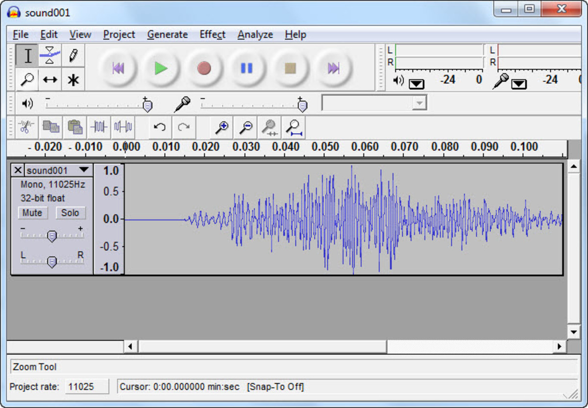 Audacity Screen Shot