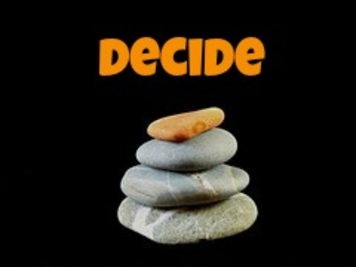 First, decide on a goal.