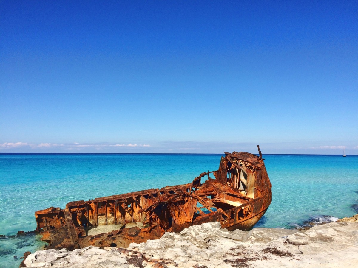 Abandoned Shipwreck on the Beach