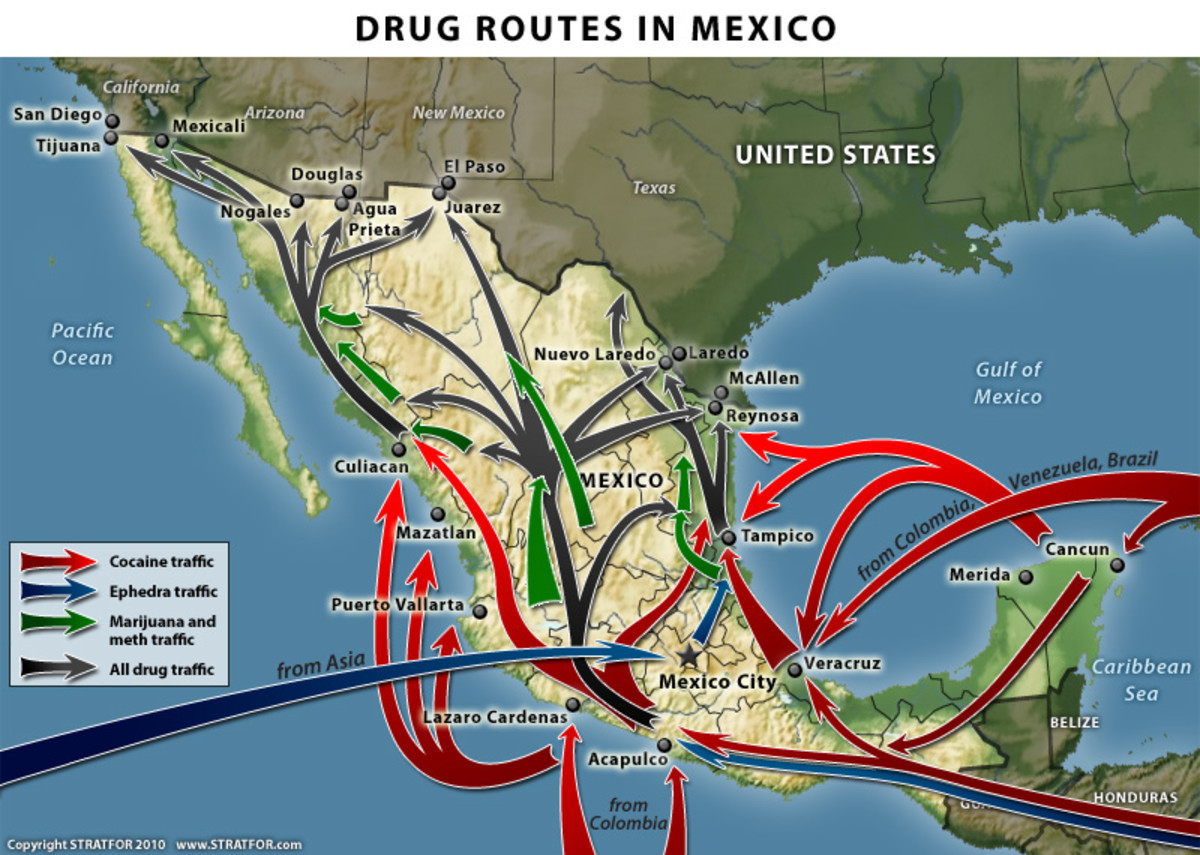 Drug Trafficking Routes.
