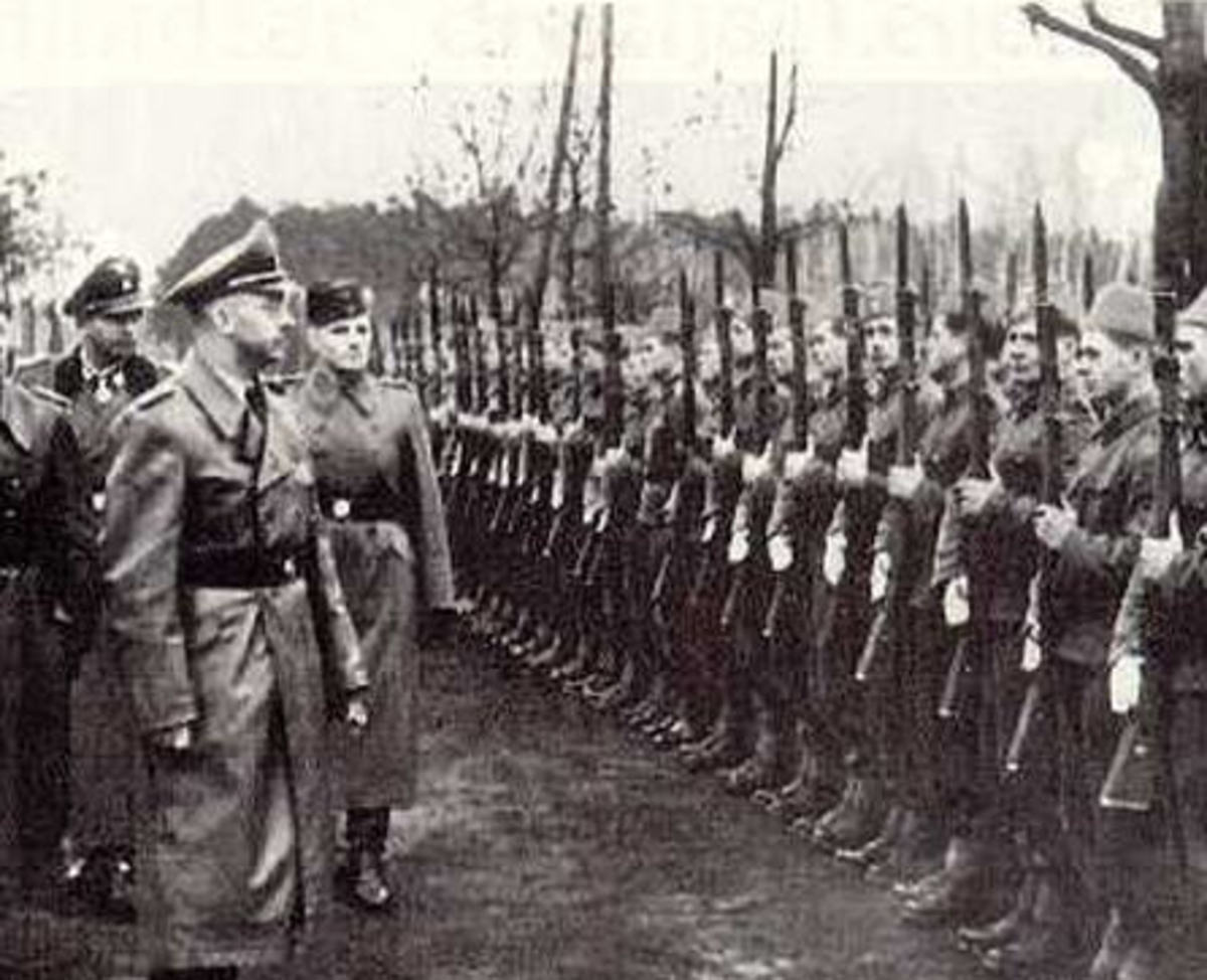 Himmler inspecting 13th SS elements
