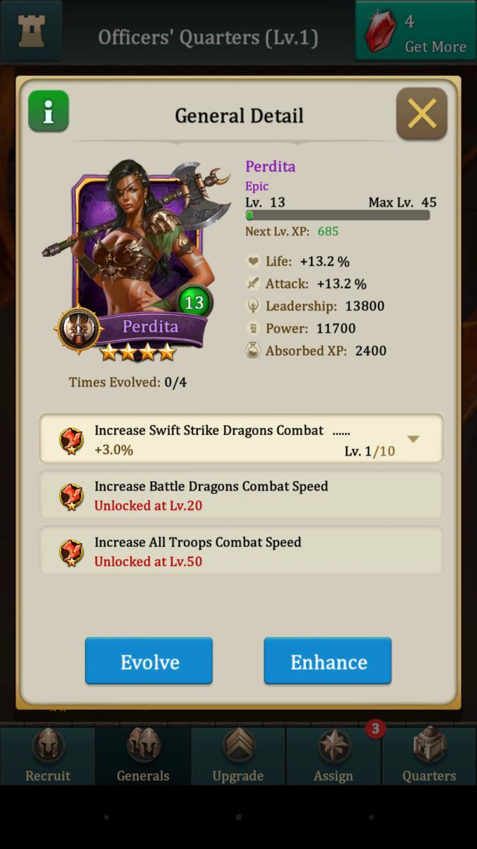 Epic General in Dragons of Atlantis
