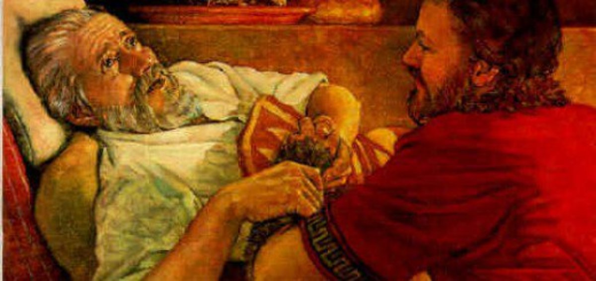 Jacob tricks his father.