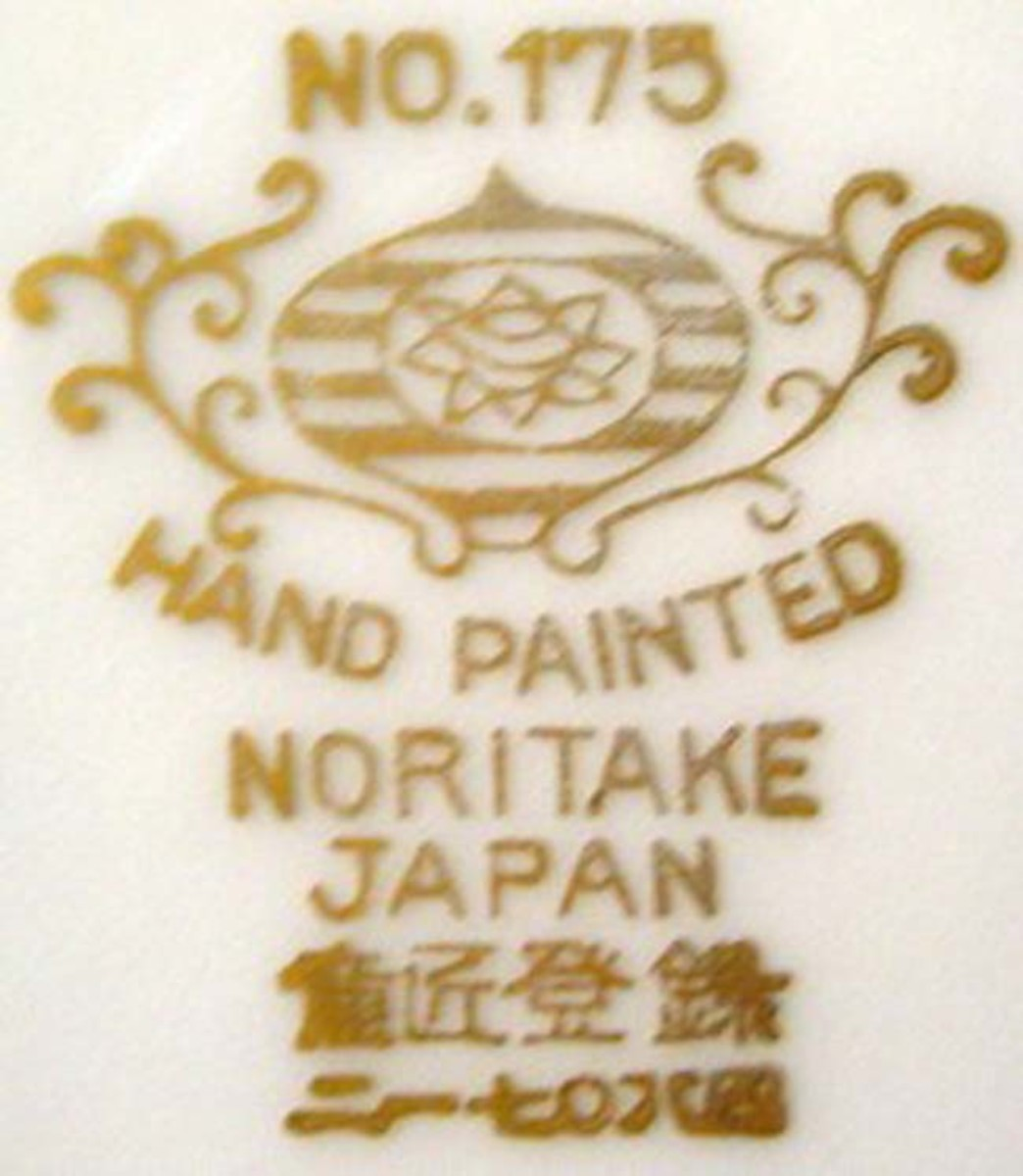 """A gold marking without """"Occupied Japan"""" means the piece was made in the 1950s–1990s range."""