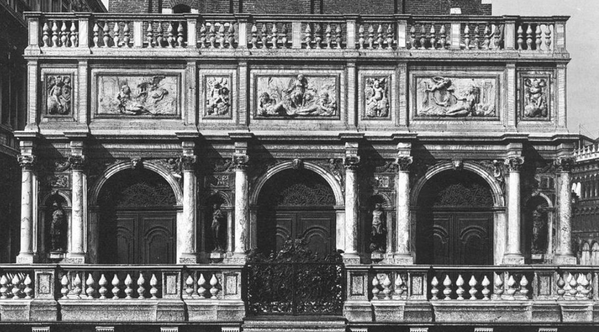 Jacopo Sansovino, the Loggetta at the base of the bell tower in Piazza San Marco (a. 1537 - 1545), Venice