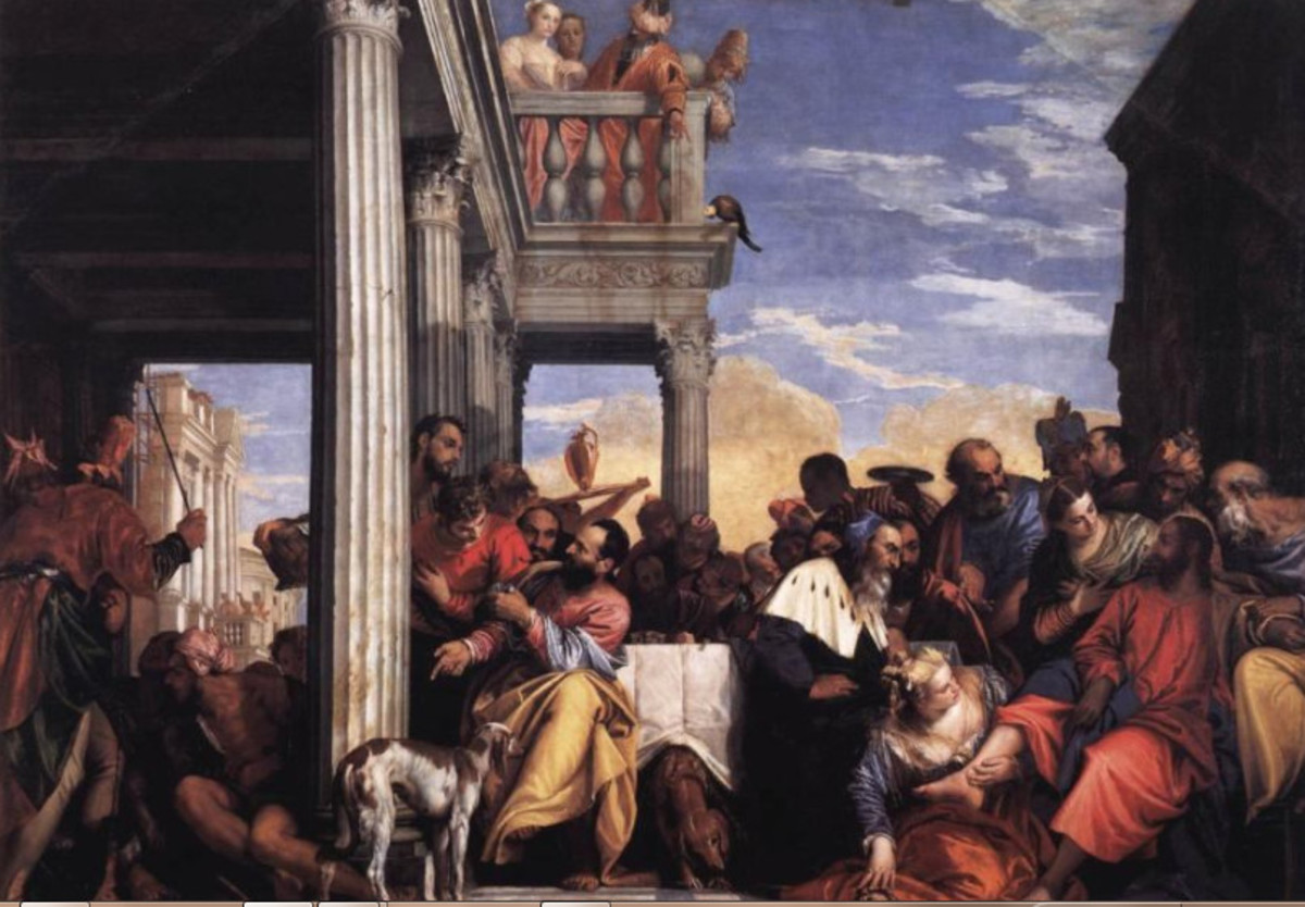 Paolo Veronese, Feast in the House of Simon (a. 1560), Turin Galleria Sabaudia