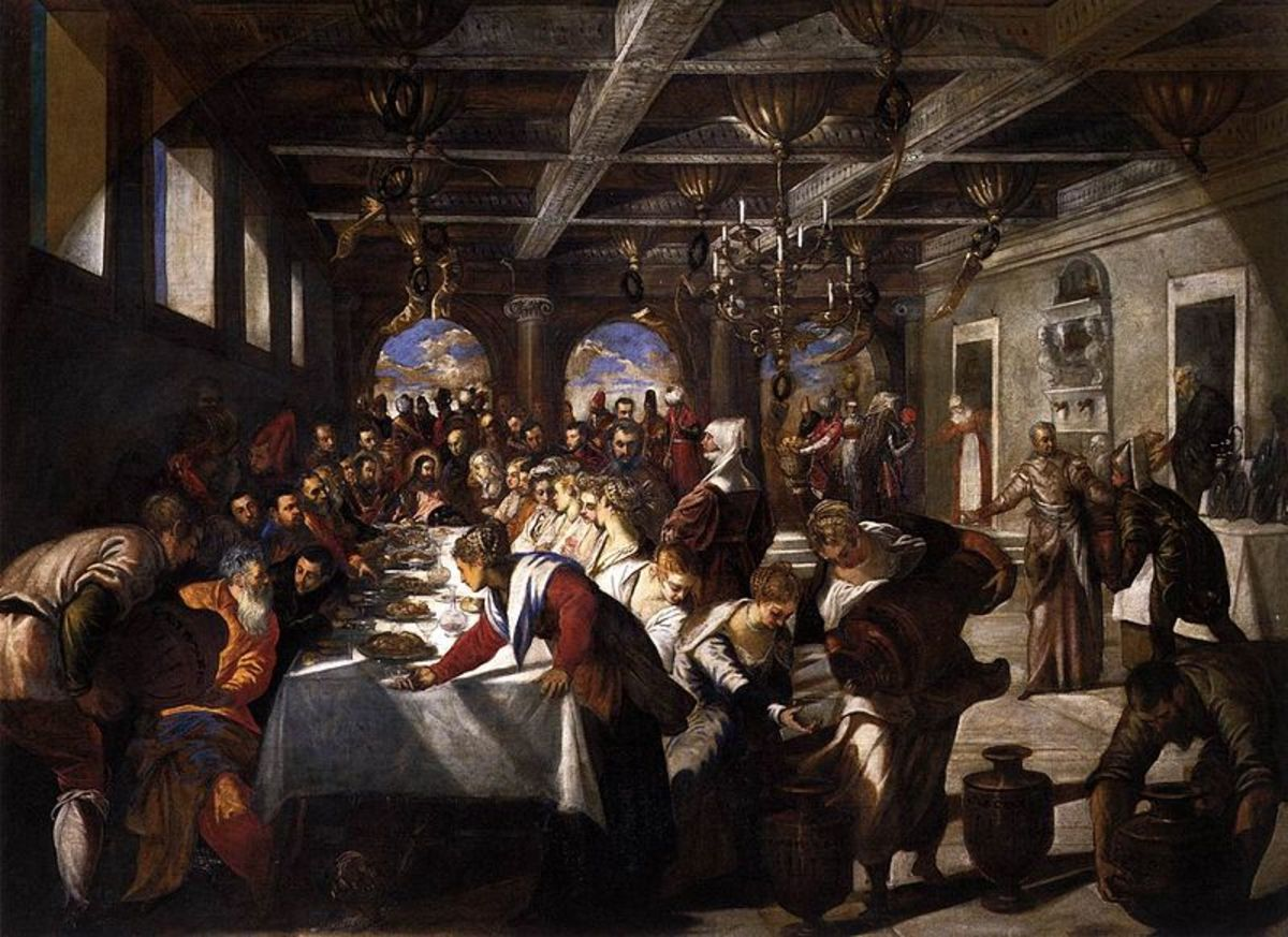 Jacopo Tintoretto, Wedding at Cana (1561), Venice Santa Maria della Salute