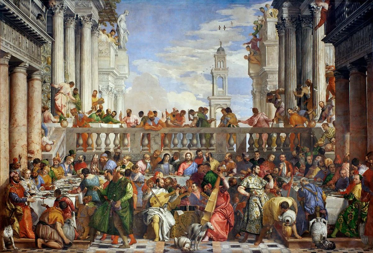 Paolo Veronese, Wedding at Cana (1563),  Paris Musée du Louvre