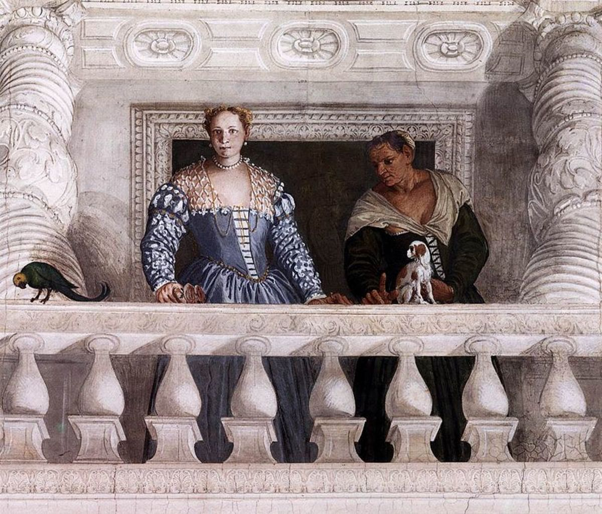 Paolo Veronese, Giustiniana Giustinian with the nurse,  Villa Barbaro in Maser (a. 1560)