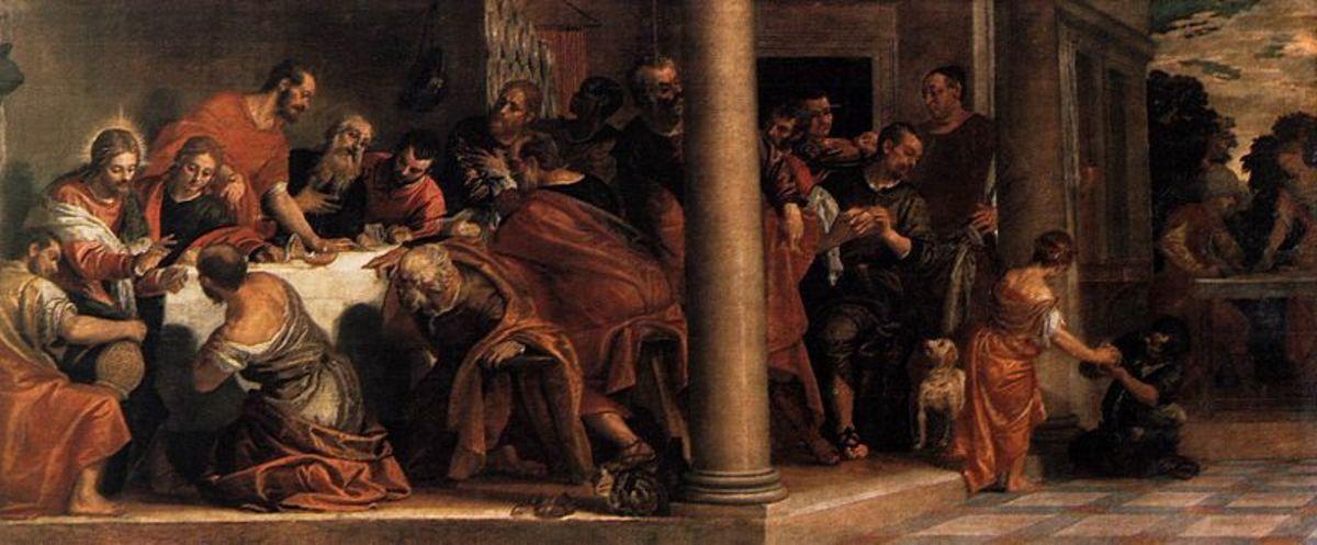 Paolo Veronese, Last Supper (1585), Milan Pinacoteca di Brera