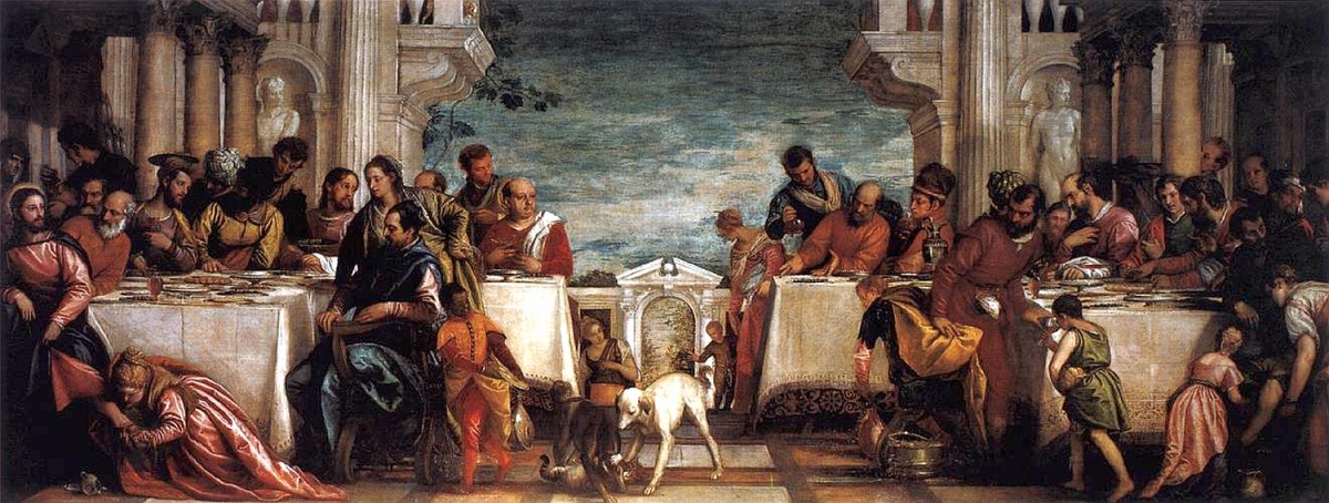 Paolo Veronese, Feast in the House of Simon (1567-1570), Milan Pinacoteca di Brera