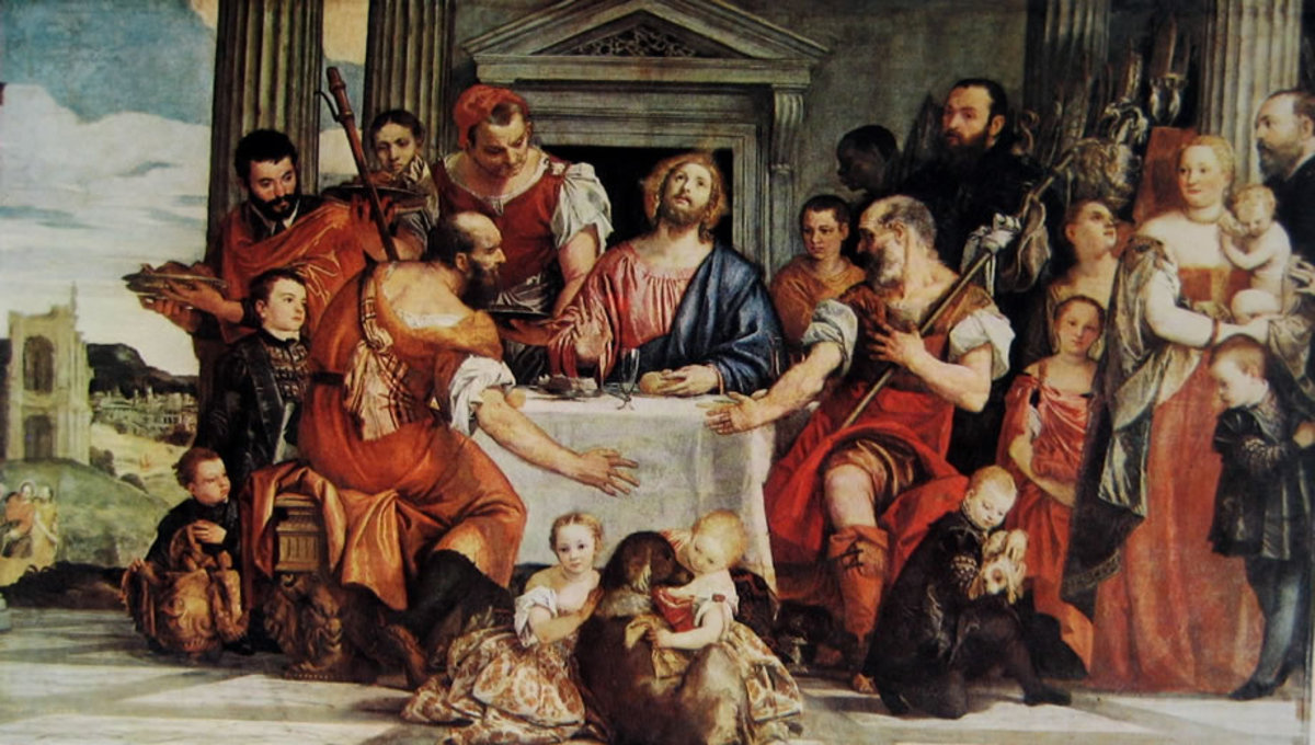 Paolo Veronese, Supper in Emmaus (1558-1559),  Paris Musée du Louvre