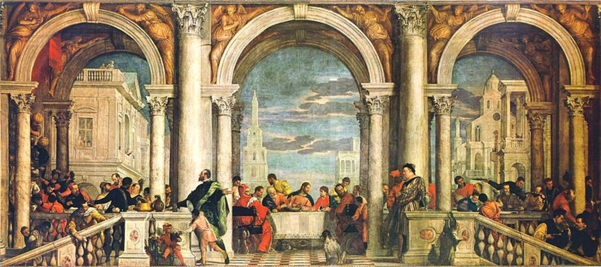 Paolo Veronese, Feast in the House of Levi (1573), Venice Gallerie dell'Accademia