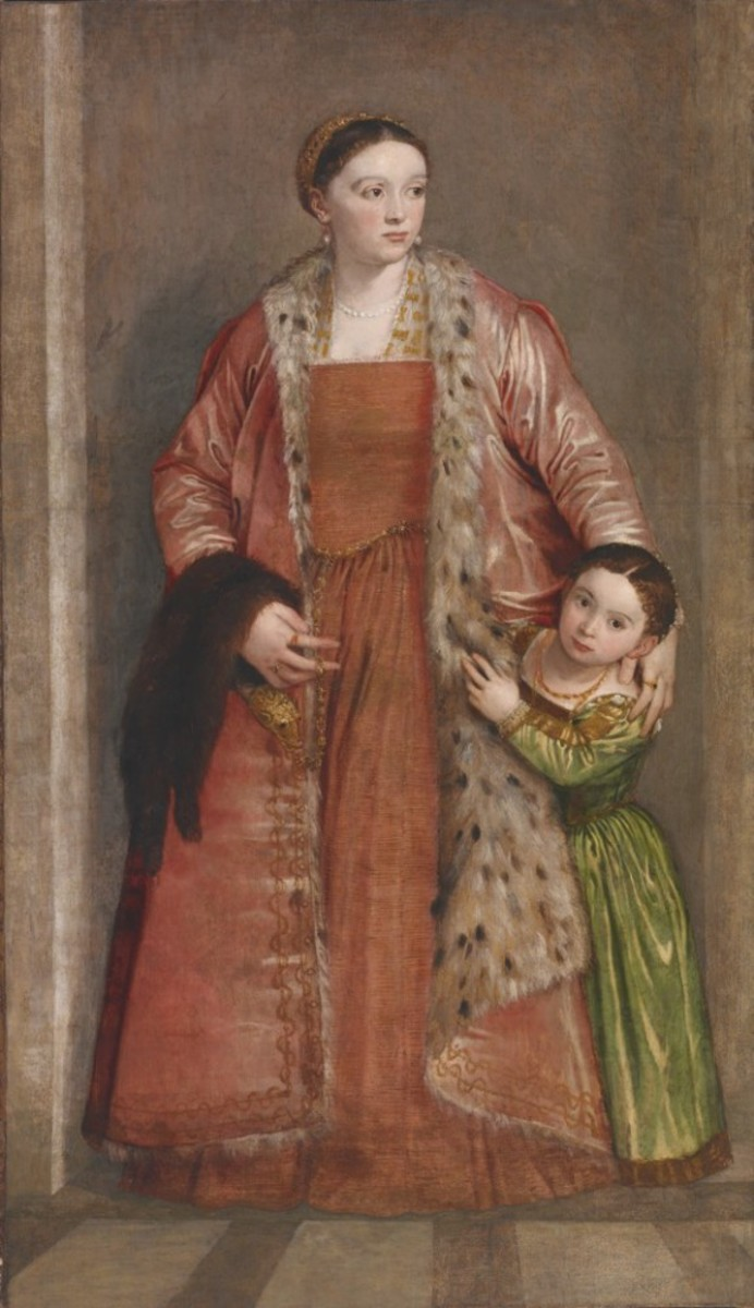Paolo Veronese, Livia da Porto Thiene with the Daughter (1551-1552), Baltimore Walter Art Gallery