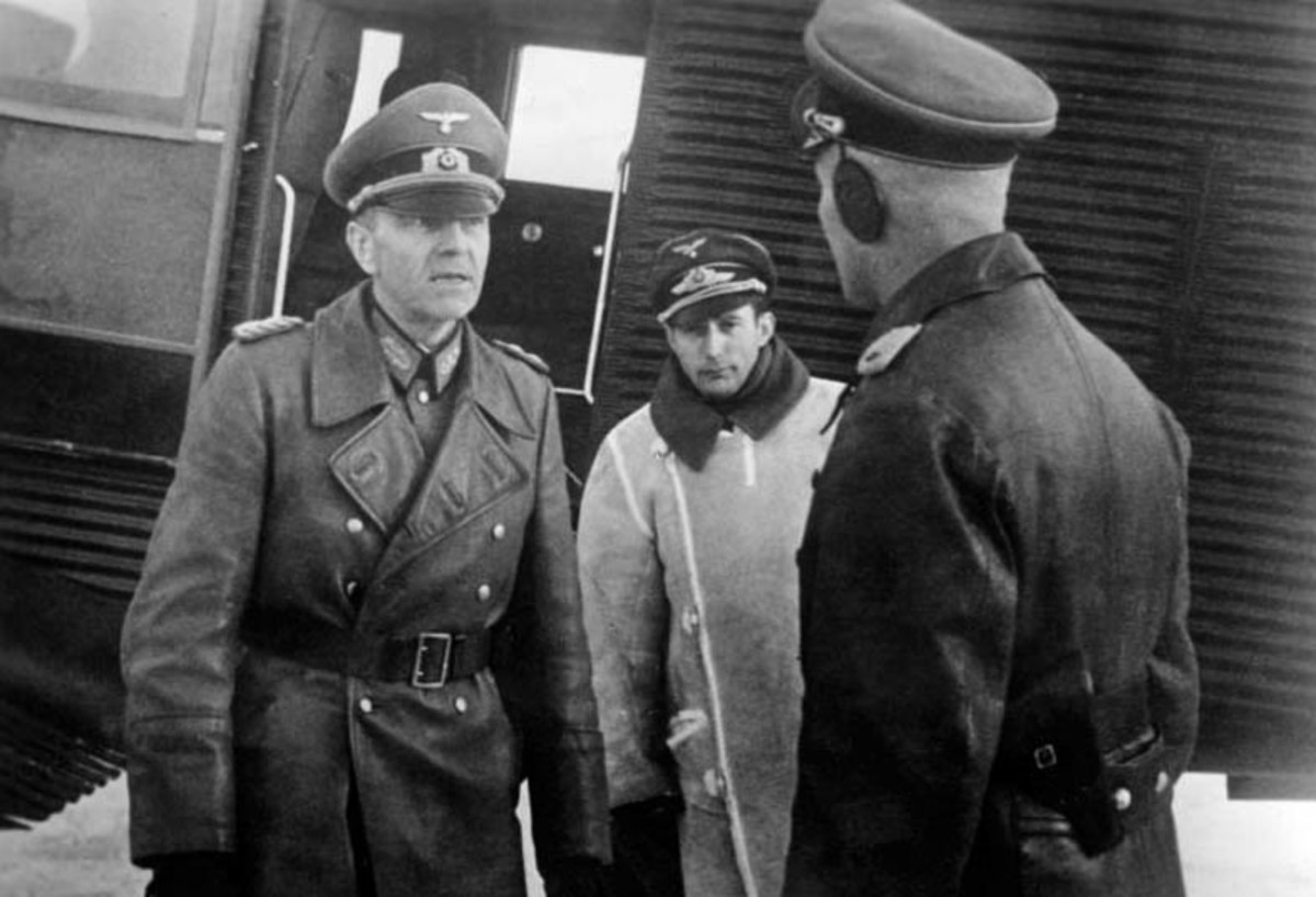 Field Marshal Paulus leaving his command plane at an airfield in Stalingrad November 1942.