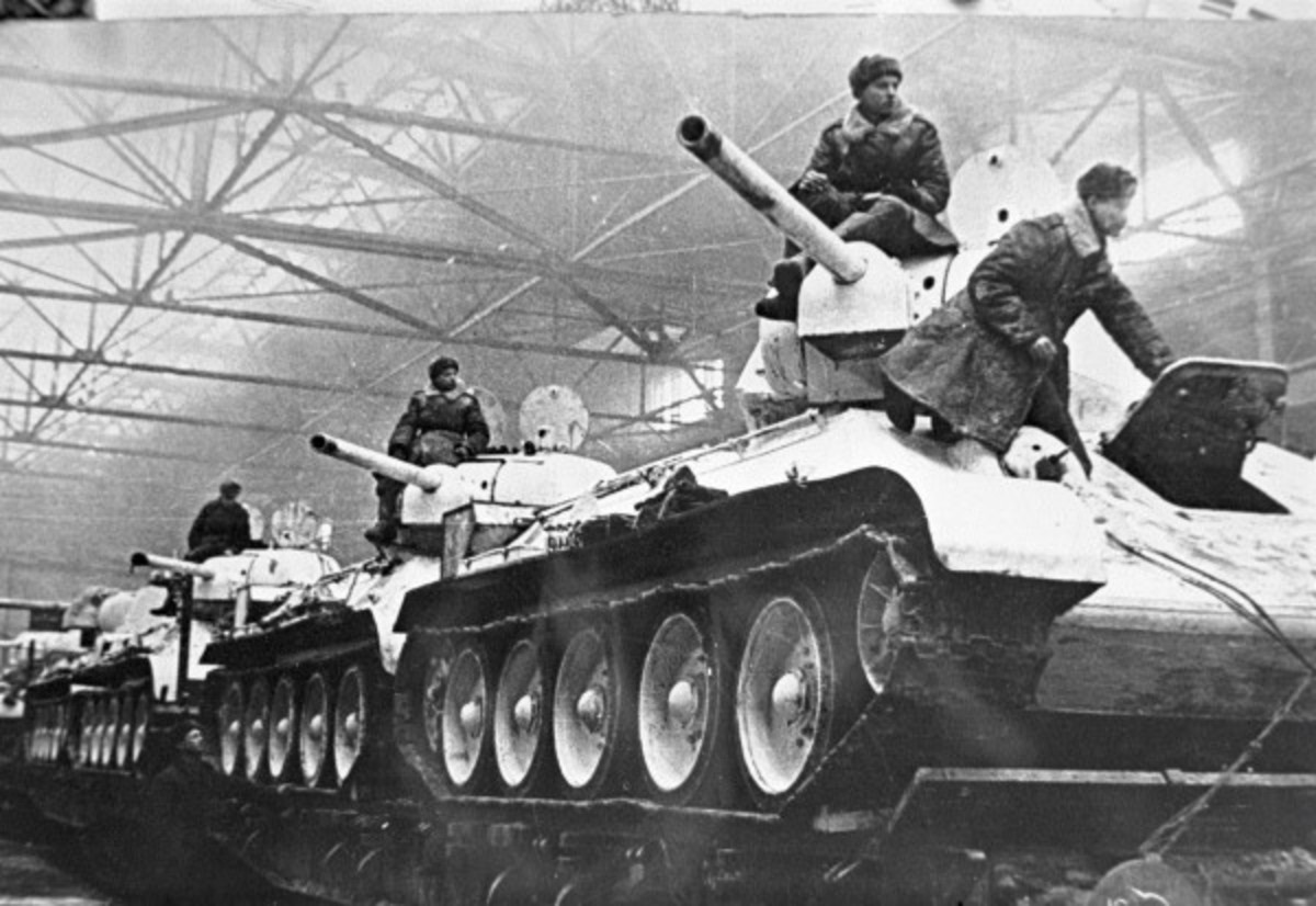 The Soviet T-34 was one of the best battle tanks of the Second World War. During the battle of Stalingrad they would roll off the production line straight into the battle.