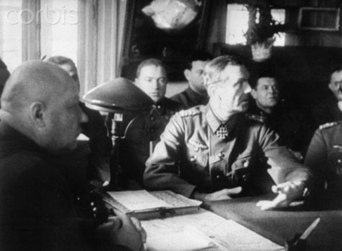 Field Marshall Paulus surrendering to Soviet forces on the 31st of January 1943. Hitler had promoted Paulus to Field Marshall hoping he would commit suicide rather than surrendering to the Soviets.