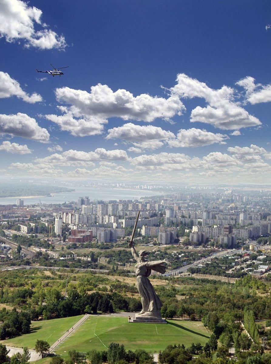 In 1961 Stalingrad was renamed Volograd a  view from Mamayev Kurgan.