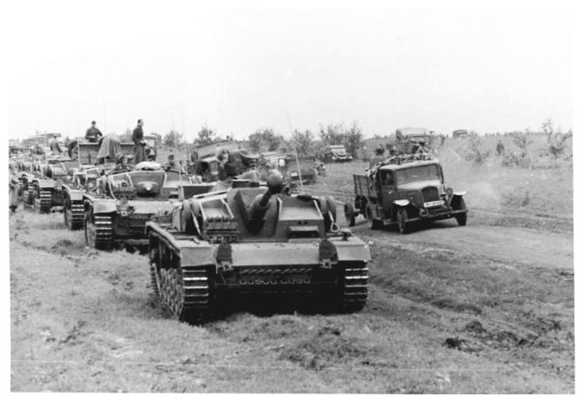German tanks on the move toward Stalingrad July 1942.