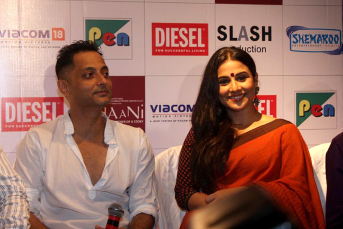 Director, Sujoy Ghosh (left) and Lead Actress, Vidya Balan