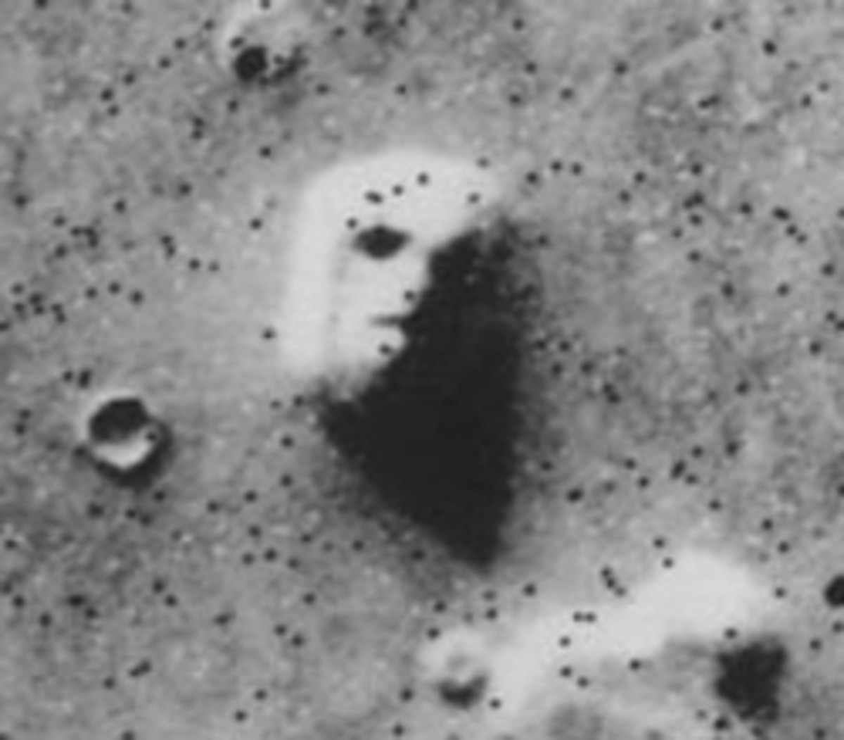 The famous Face On Mars promoted by Richard Hoagland but ridiculed by NASA.