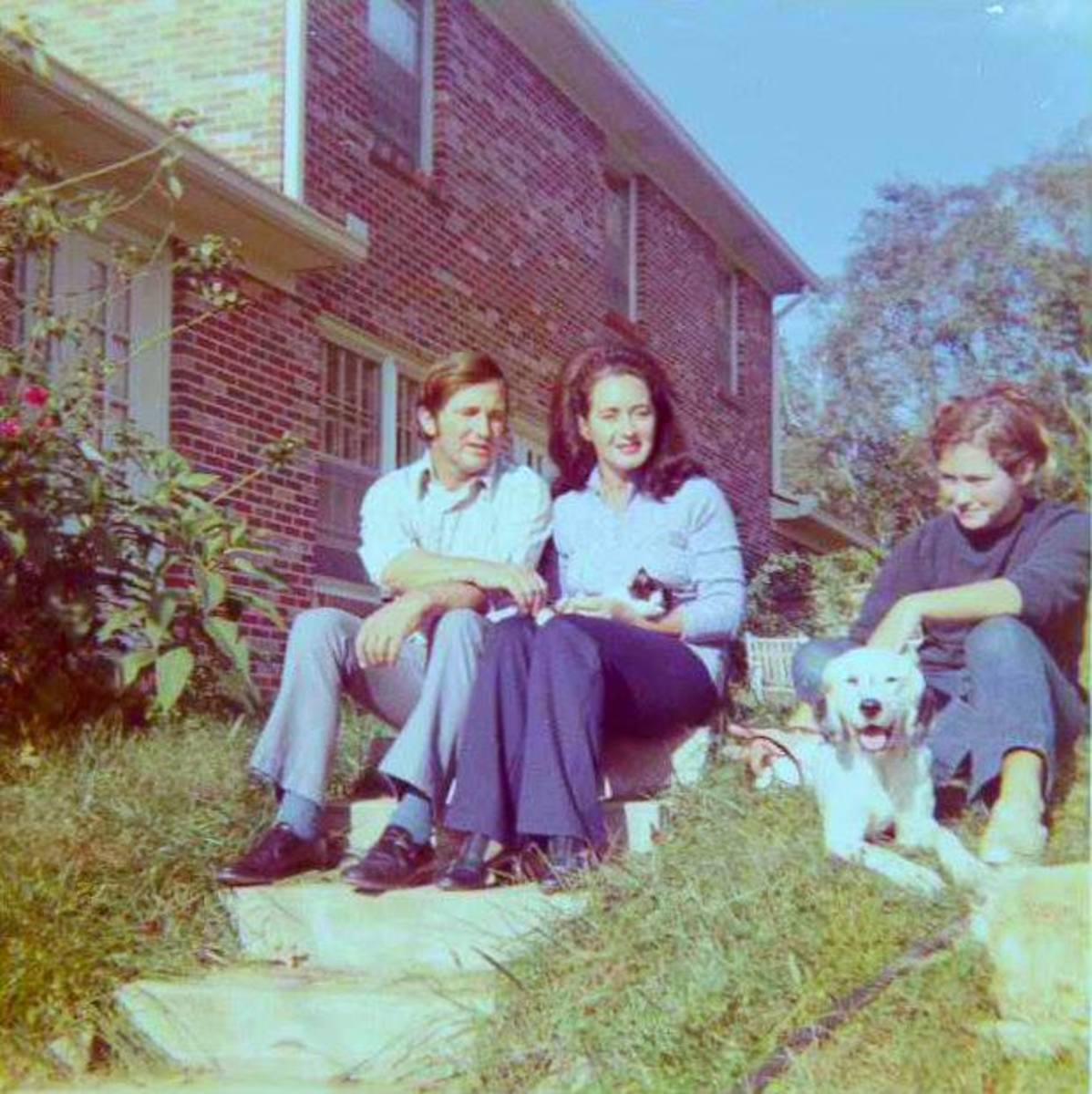 Here is a photo taken with my Kodak X-15 back in 1971. The quality was wonderful for such a simple point and shoot camera. In the photo is my Daddy, Mom, and sister Celesa back in 1971 at our home on Otter Creek Road, in Nashville Tennessee.