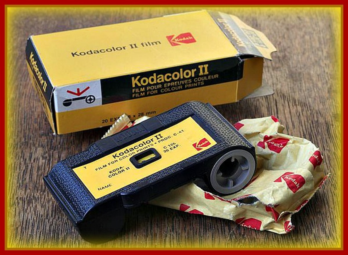 The Kodacolor film called 126 is the name given to a cartridge-based film that was in a format used in still photography for most instamatic cameras of the 1960s and early 1970s.
