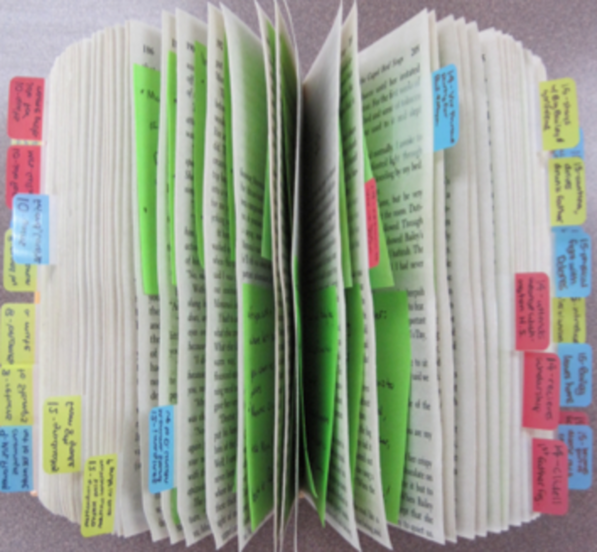 Marking textbooks with Post-it Notes