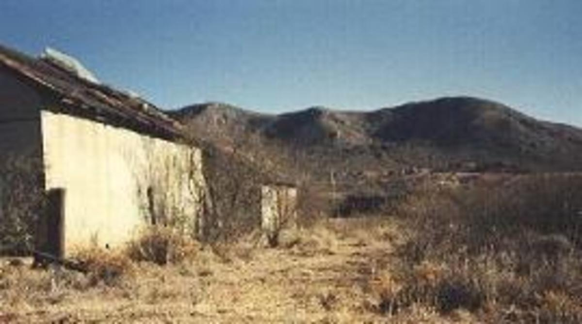 Remains of Gleeson, Arizona