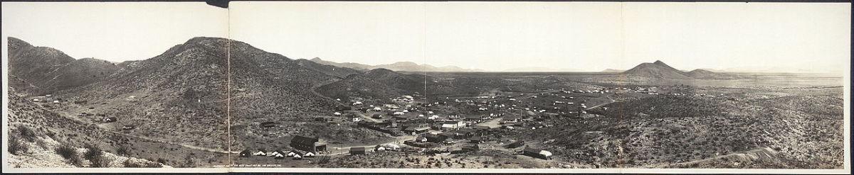 1909 panorama of Courtland, Arizona