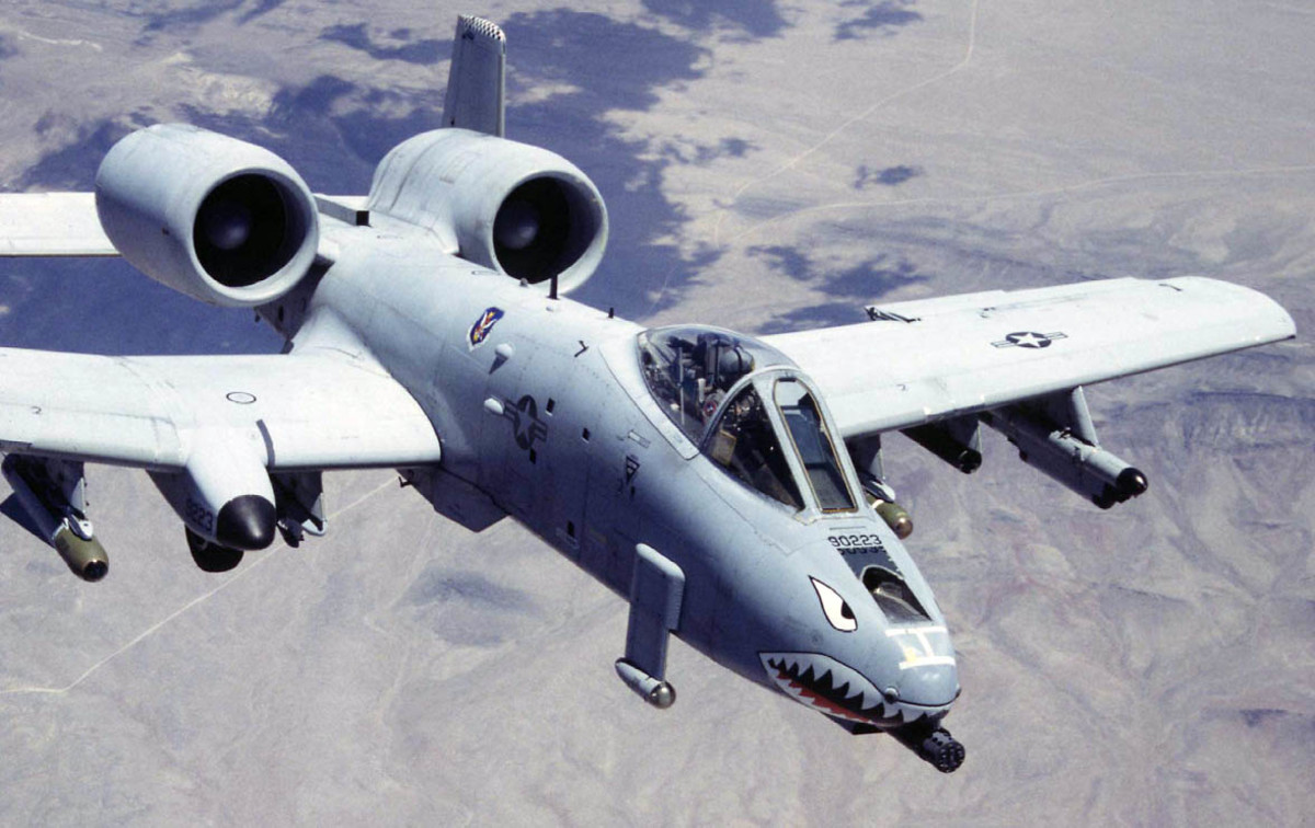 The American A-10 Warthog made famous during the first Gulf War.