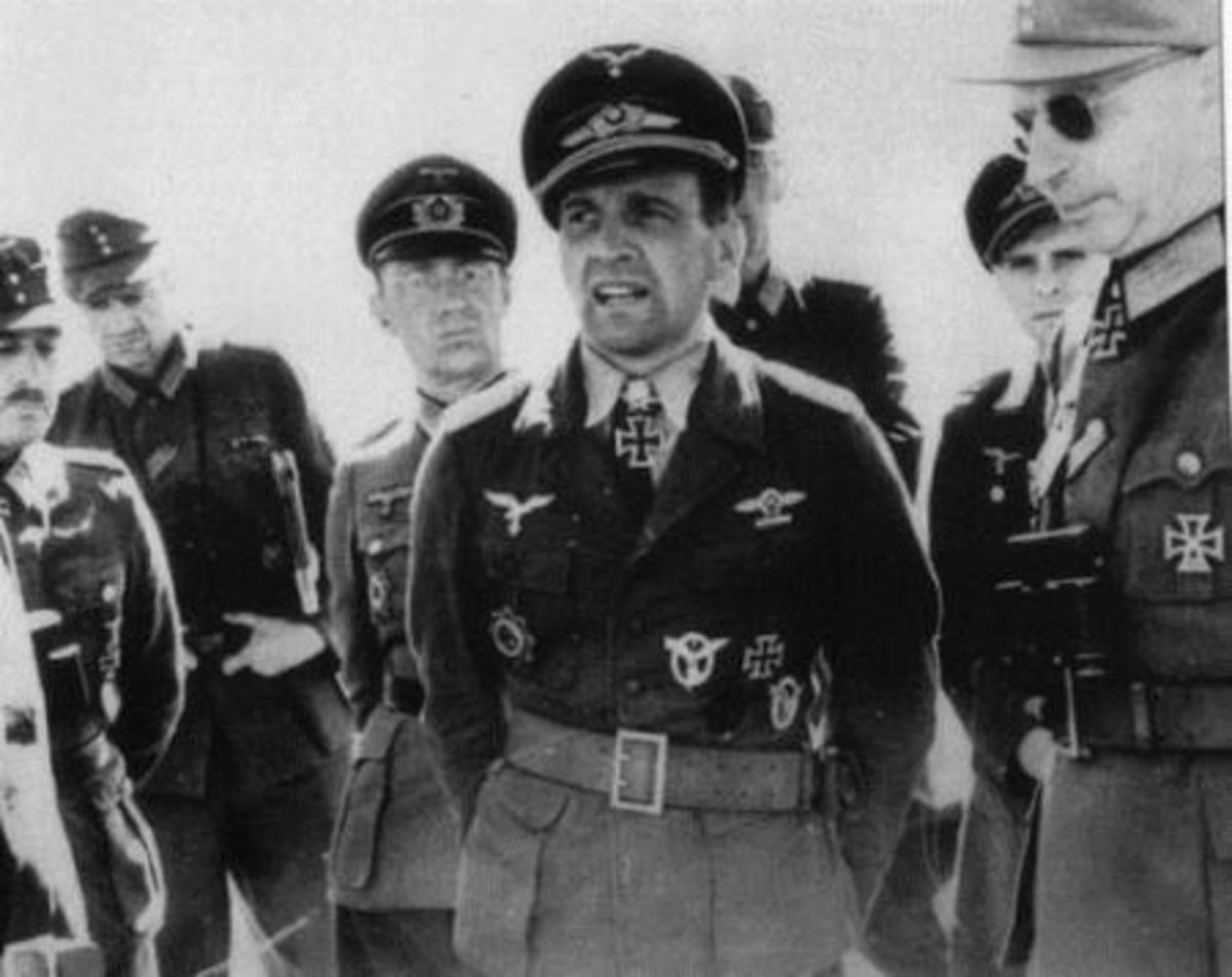 Rudel early in the was at the height of the German's success. He would fight almost exclusively on the Eastern Front against the Soviet Union.